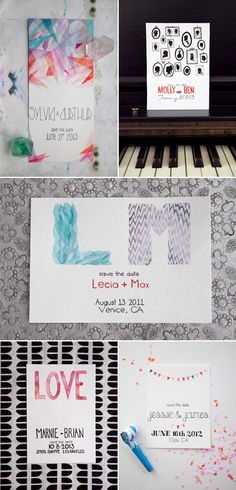 hand lettered invites and save the dates (pretty sure the studio responsible for these is no longer :( )