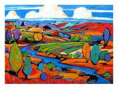 Southwest Faux Landscape by Patty Baker..I'm loving it!