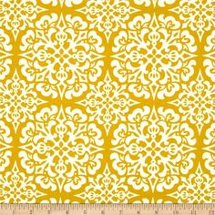 Heather Bailey Ginger Snap Snowflake Ginger from @fabricdotcom  Designed by Heather Bailey for Free Spirit, this fabric is perfect for quilting, craft projects, apparel and home decor accents. Colors include gold and cream.