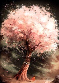 Sakura tree drawing backgrounds art of animation trendy Ideas Fantasy Boy, Manga Art, Anime Art, Manga Anime, Scenery Paintings, Wow Art, Fantasy Landscape, Anime Scenery, Oeuvre D'art