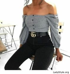 Awesome shirt and black pants - LadyStyle