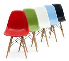 Charles and Ray Eames DSW Chairs, Cult Furniture