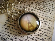 Paris Pendant Necklace by ivcreations55 on Etsy, $21.00