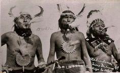 Sun dance pledgers,Cheyenne Indians,ceremonial paint,spiritual,E Curtis,c1910