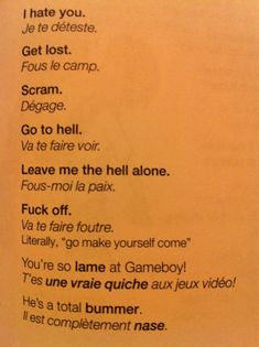 Important French phrases