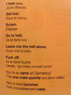 Tout est mieux en français.
