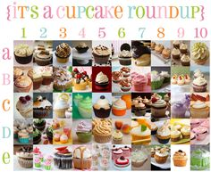 tthe best 50 cupcake flavors - she has flavours like Bailey's irish cream (although amarulu would work better); tres leches; cinnamon, pina colada, lemon drop, nutella, carrot cake and LOADS more!