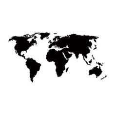 "Style and Apply World Map Wall Decal Color: Black, Size: 46"" H x 94"" W"