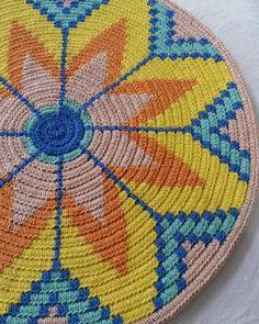 Best 12 Work in progress Motif Mandala Crochet, Art Au Crochet, Tapestry Crochet Patterns, Bag Pattern Free, Tapestry Bag, Crochet Purses, Crochet Videos, Basket Weaving, Crochet Projects
