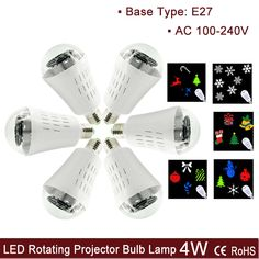 Cheap e27 12v, Buy Quality light in the box evening dresses directly from China e27 holder Suppliers:  Christmas New E27 LED Rotating Projector Bulb Lamp, Bell, Gift, Snowflake, Socks, TreePattern AC 100-240V 4W RGBW