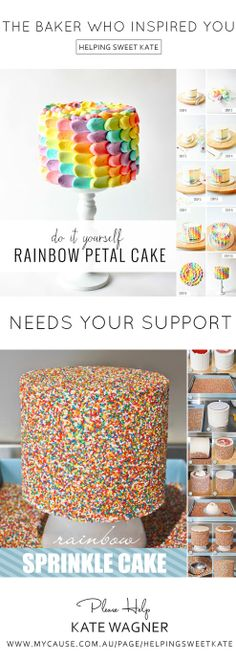 Recognize these tutorials? The baker who created them for you…. needs your support. In July, Kate Wagner gave birth to a beautiful baby boy. Just a week later, she was diagnosed with Stage 4 Metastatic Melanoma and had the first of 2 brain tumors removed. If you've made one of these cakes. Been inspired by one of these cakes. Or even just enjoyed looking at these cakes... Please CLICK THROUGH to read Kate's story and consider making a donation to help support her and her family.