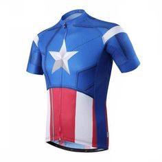 Captain American Marvel Superhero Cycling Jerseys | Freestylecycling.com