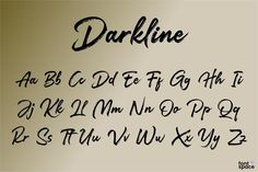 Darkline Brush Script Font by subectype & Orenari (Free) Brush Script, Font Names, Script Fonts, Typography, Letters, Drawing Ideas, Shower Ideas, Art Drawings, Creativity
