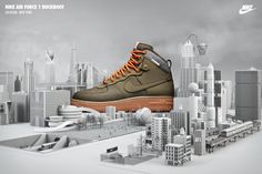 NIKE AIR FORCE 1 DUCKBOOT Sneakerboots by Chris LaBrooy