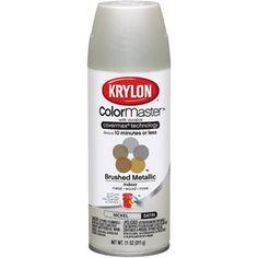 Satin nickel spray paint for hardware