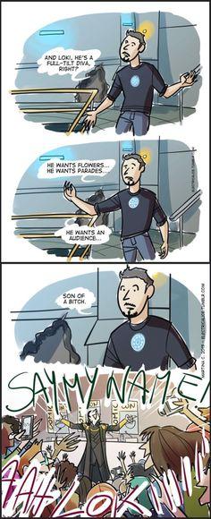 Tony Stark predicted it..you have to love loki