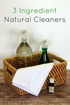 3-Ingredient Natural Cleaners just in time for spring cleaning! - Fireflies and Mud Pies
