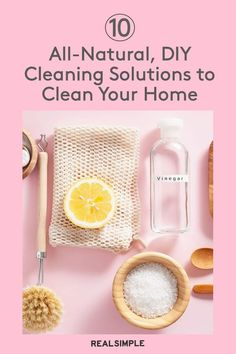 10 All-Natural, Homemade Cleaning Solutions to Scrub Every Inch of Your Home   These DIY cleaners include everything from a homemade all-purpose cleaner to a natural glass cleaner and a solution for grimy hardwood floors. Plus, you likely already have the ingredients in your pantry. #cleaningtips #cleanhouse #realsimple #stepbystepcleaning #cleaninghacks #cleaningguide