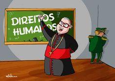 .: #Cartunistas homenageiam #DomPauloEvaristoArns em exposição virtual. Uma semana após a morte do arcebispo, o #PortalHQMIX abre sua seção de exposições e reconhece as contribuições da personalidade na luta pela liberdade de expressão.