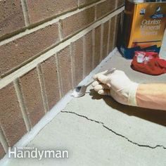 Protect your foundation and walks from further damage by sealing cracks with durable urethane caulk.