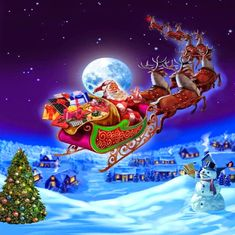 Santa And Reindeer Happy Thursday Quote christmas santa thursday thursday quotes winter thursday quotes thursday quotes and sayings christmas thursday quotes thursday images thursday pics Christmas Scenes, Christmas Art, Winter Christmas, Vintage Christmas, Christmas Christmas, Xmas, Santa Paintings, Christmas Paintings, Merry Christmas Pictures