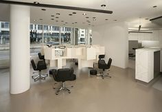 Simple and beautiful design for a beauty salon. Beblond hair studio by raumspielkunst Stuttgart 03