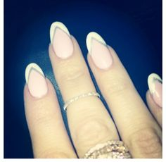 I've been rocking my nails in this round shape off and on since last fall. I like it...it's feminine but can almost look sharp.