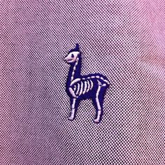 Lama embroidery skeleton
