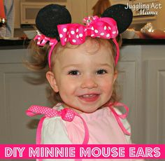 Juggling Act: DIY Minnie Mouse Ears from @Ang Paris - Ellie's pick from THE Pin It Party #15