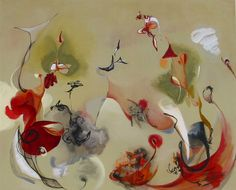"Saatchi Online Artist: Julia Pinkham; Acrylic, 2011, Painting ""The Living Air"""