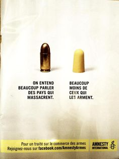 We can hear a lot about countries slaughtering... way less about countries that sell weapons - Amnesty France