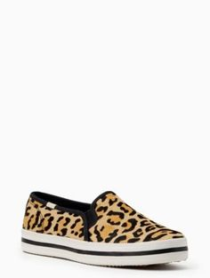 76fc04a9d940 RILEY SIZE 10- keds x kate spade new york double decker leopard-print  sneakers