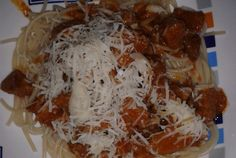 Spaghetti, Pasta, Grains, Food And Drink, Menu, Cheese, Chicken, Ethnic Recipes, Gnocchi