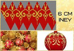 Beaded Ornaments, Xmas Ornaments, Christmas Baubles, Christmas Crafts, Crochet Ball, Bead Crochet, Seed Bead Flowers, Cross Stitch Christmas Ornaments, Beaded Boxes