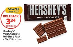 Nice! Get Hershey's Chocolate Only $0.47 At Walmart After Sale and Printable Coupon!