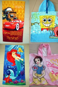 Disney design  kids beach towels Beach Towel Bag, Kids Beach Towels, Cotton Towels, Tea Towels, Sports Bathroom, Towel Series, Personalized Towels, Custom Beach Towels, Disney Designs