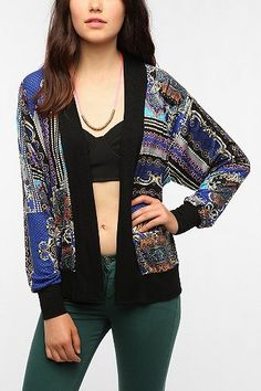 Sparkle & Fade Key Print Cardigan: Urban Outfitters