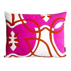 It seems I have a pillow problem...love the large scale pattern and bright colors. Would be great on a neutral sofa.