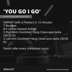 Abs And Cardio Workout, Mini Workouts, Weight Training Workouts, Gym Workouts, Wods Crossfit, Crossfit At Home, Crossfit Baby, Assault Bike Workout, Couples Workout Routine