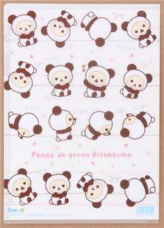 cream Rilakkuma panda bear dot A4 plastic file folder 2