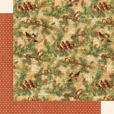Graphic 45 - Winter Wonderland - 12 x 12 Scrapbook Paper - Woodland Whimsy now available at The Rubber Buggy Christmas Scrapbook, Christmas Paper, Christmas Crafts, Mini Album Tutorial, Paper Birds, Scrapbook Paper Crafts, Scrapbooking, Art File, Graphic 45