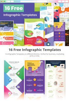 Free Infographic Templates, Design Bundles, Cool Designs, Presentation, Product Launch, Graphic Design, Creative, Visual Communication