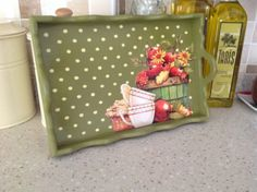 Decoupage Box, Decoupage Vintage, Frame Tray, Pumpkin Cards, Pinterest Crafts, Wood Tray, Diy And Crafts, Home Crafts, Chalk Paint Furniture