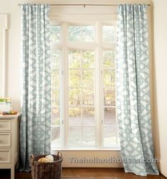 Spa Blue Curtain Panels