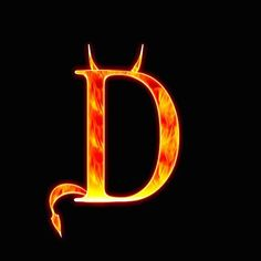 Initial D, Letter D, Cool Art, Awesome Art, Fantasy, Black Backgrounds, Halloween, Symbols, Stock Photos