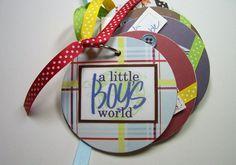 Little Boy Premade Mini Scrapbook Album Little by HampshireRose, $30.00