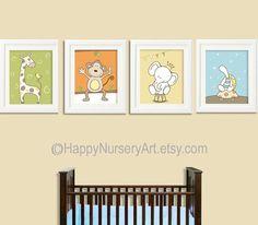 carteles infantiles animales vivero arte decoracin de la habitacin de beb arte de pared de cuarto de nios habitacin de beb coloridas