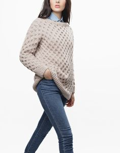 Even flow sweater - (any color except reddy steady blue or sand trooper beige), cable needle and needles.   $259