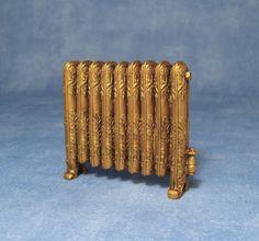 Dolls House Miniature Radiator Antique Gold D2329