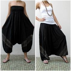 The Harem Pant. Or as I like to call them, crap catchers.Worn either as clothes or as pants, there really isn't anything even close to as comfy as these things. At all.